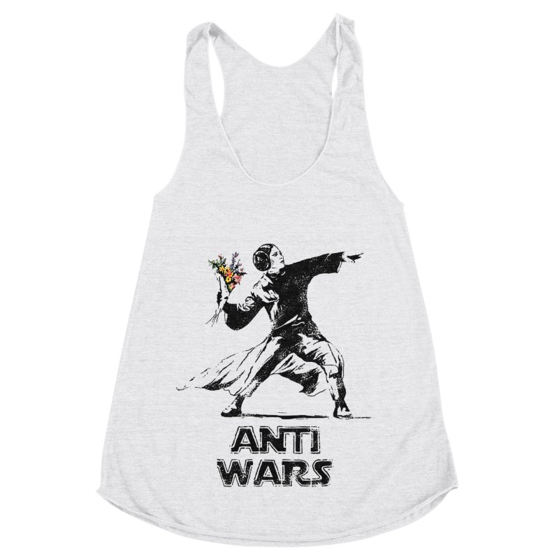 Anti Wars Women's Racerback Triblend Tank by · STUDI X-LEE ·