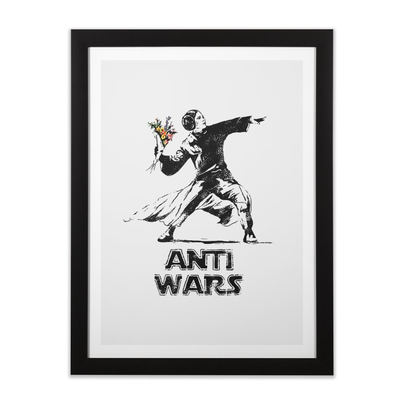 Anti Wars Home Framed Fine Art Print by · STUDI X-LEE ·
