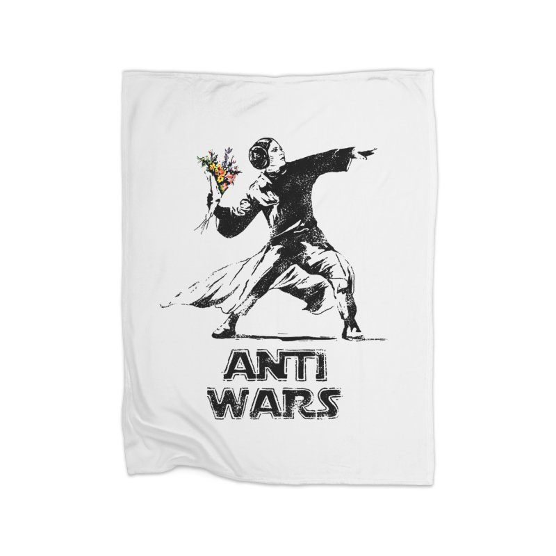 Anti Wars Home Blanket by INK. ALPINA