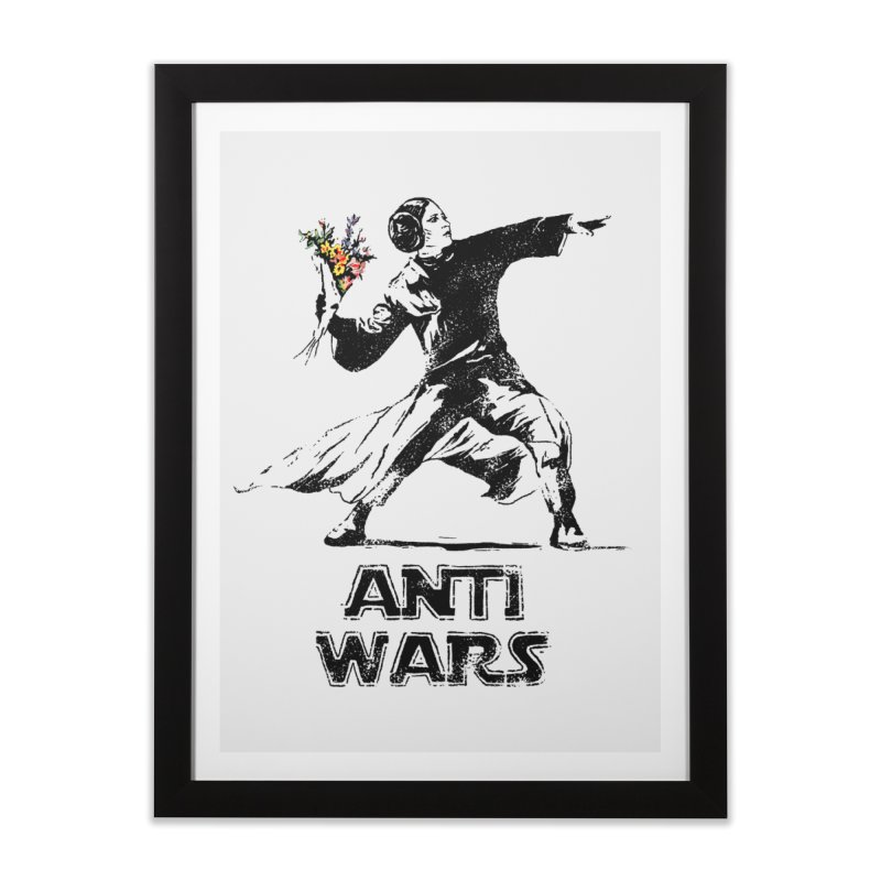 Anti Wars Home Framed Fine Art Print by INK. ALPINA