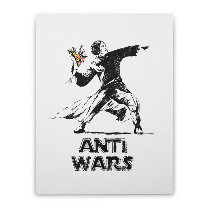 Anti Wars Home Stretched Canvas by INK. ALPINA