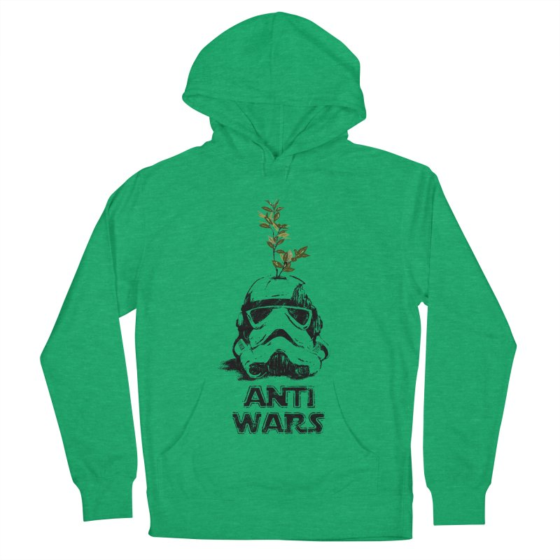 Anti Wars Serie Women's French Terry Pullover Hoody by INK. ALPINA
