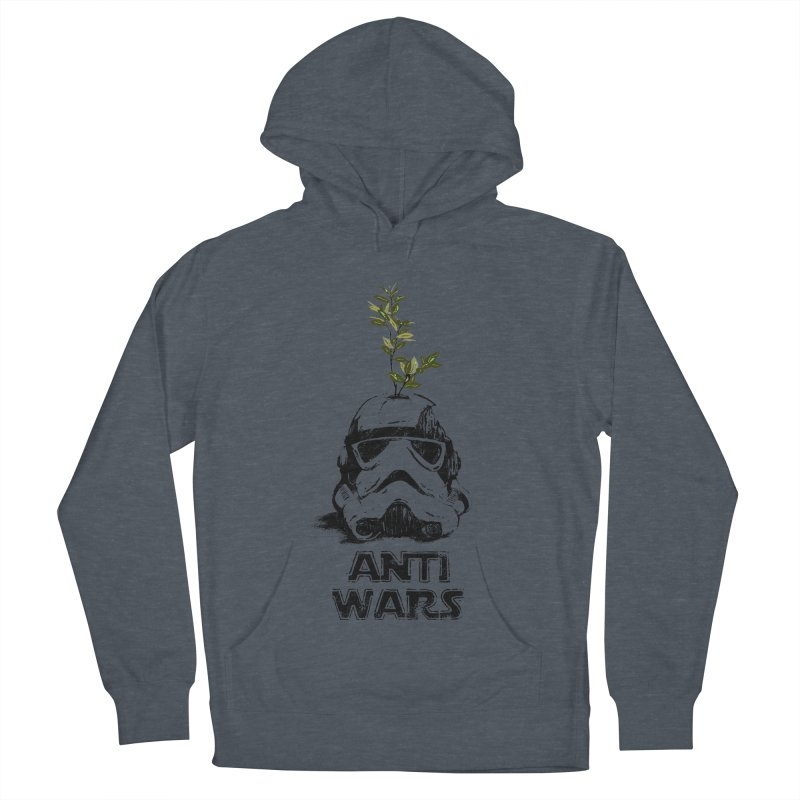 Anti Wars Serie Men's French Terry Pullover Hoody by INK. ALPINA