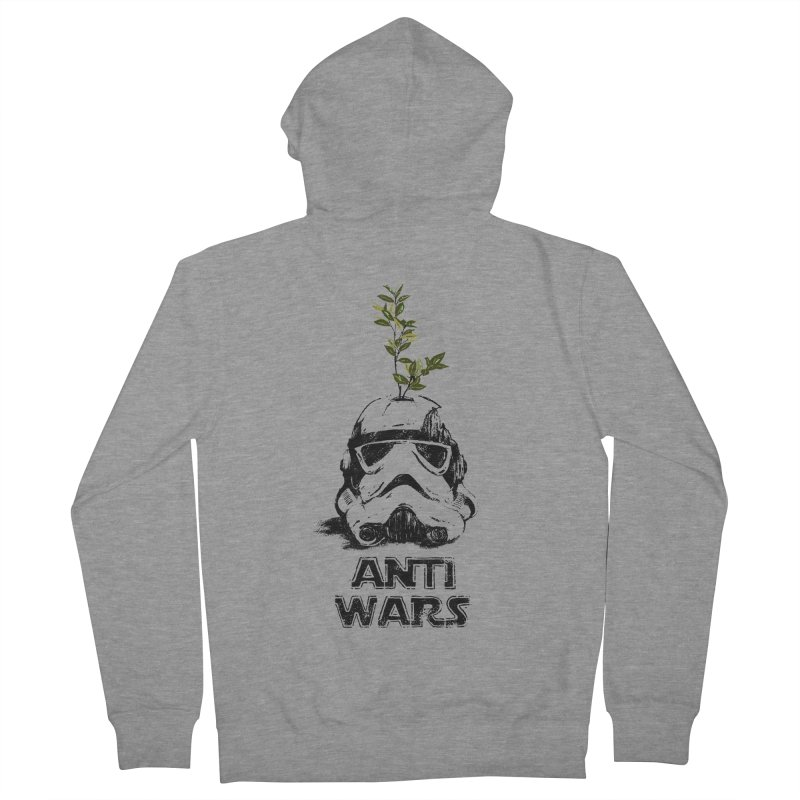 Anti Wars Serie Men's French Terry Zip-Up Hoody by INK. ALPINA