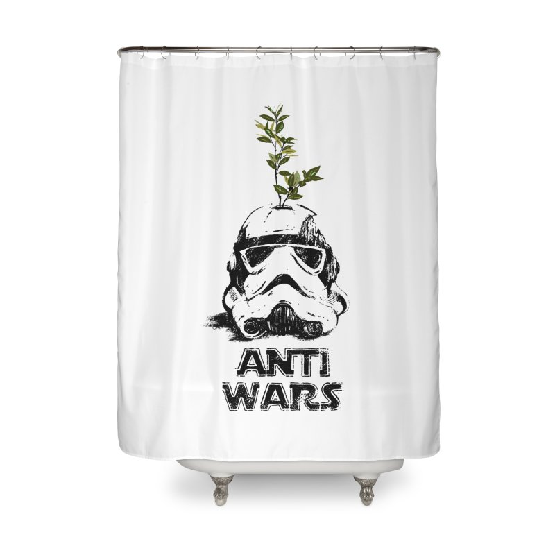 Anti Wars Serie Home Shower Curtain by · STUDI X-LEE ·