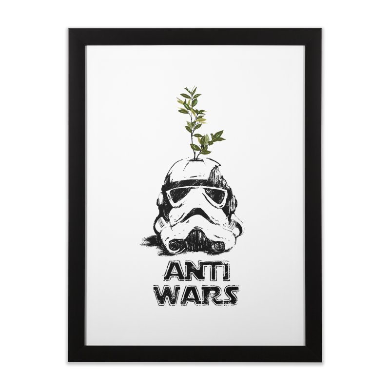 Anti Wars Serie Home Framed Fine Art Print by · STUDI X-LEE ·