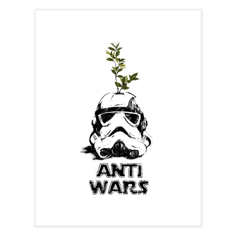 Anti Wars Serie Home Fine Art Print by INK. ALPINA