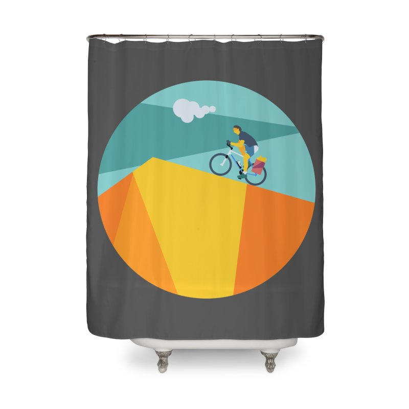 Ciclista Home Shower Curtain by INK. ALPINA