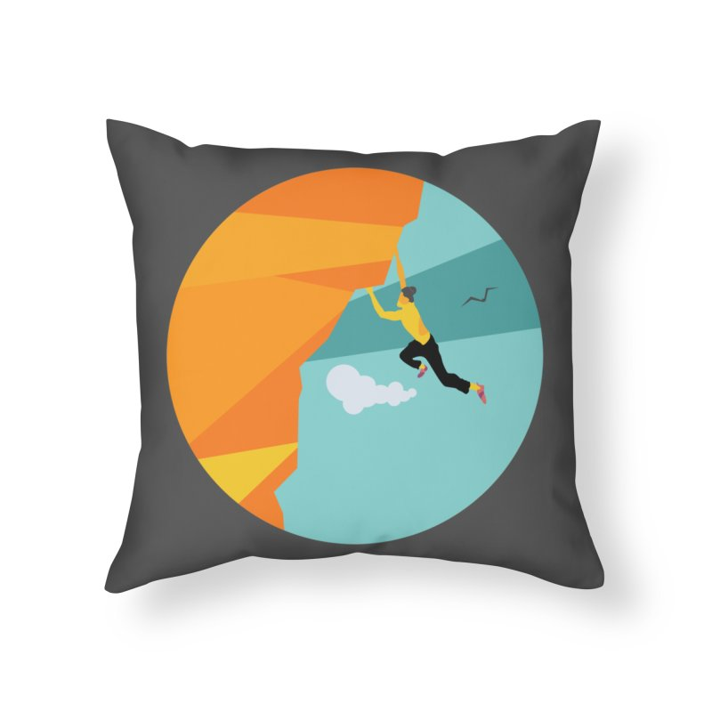 Escalador Home Throw Pillow by · STUDI X-LEE ·