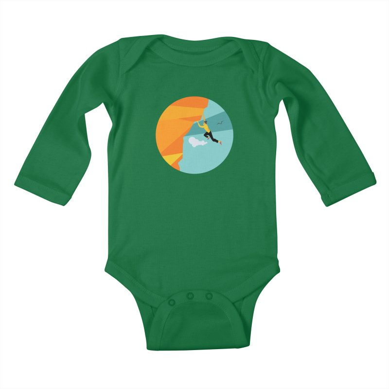 Escalador Kids Baby Longsleeve Bodysuit by INK. ALPINA