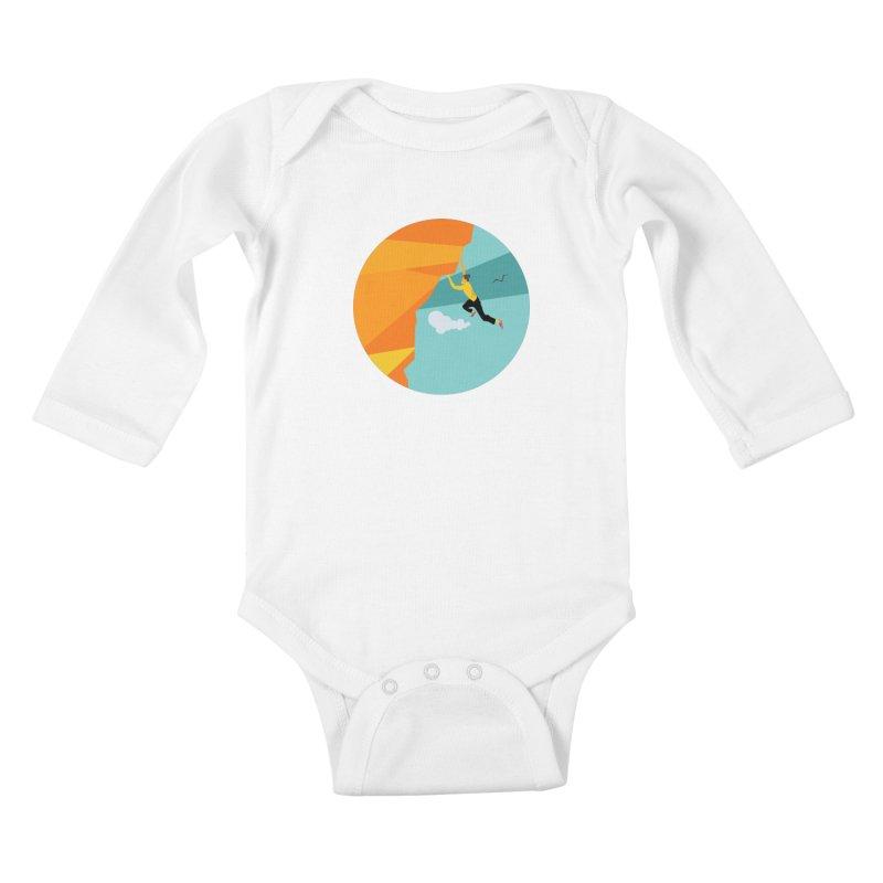 Escalador Kids Baby Longsleeve Bodysuit by INK. ALPINA