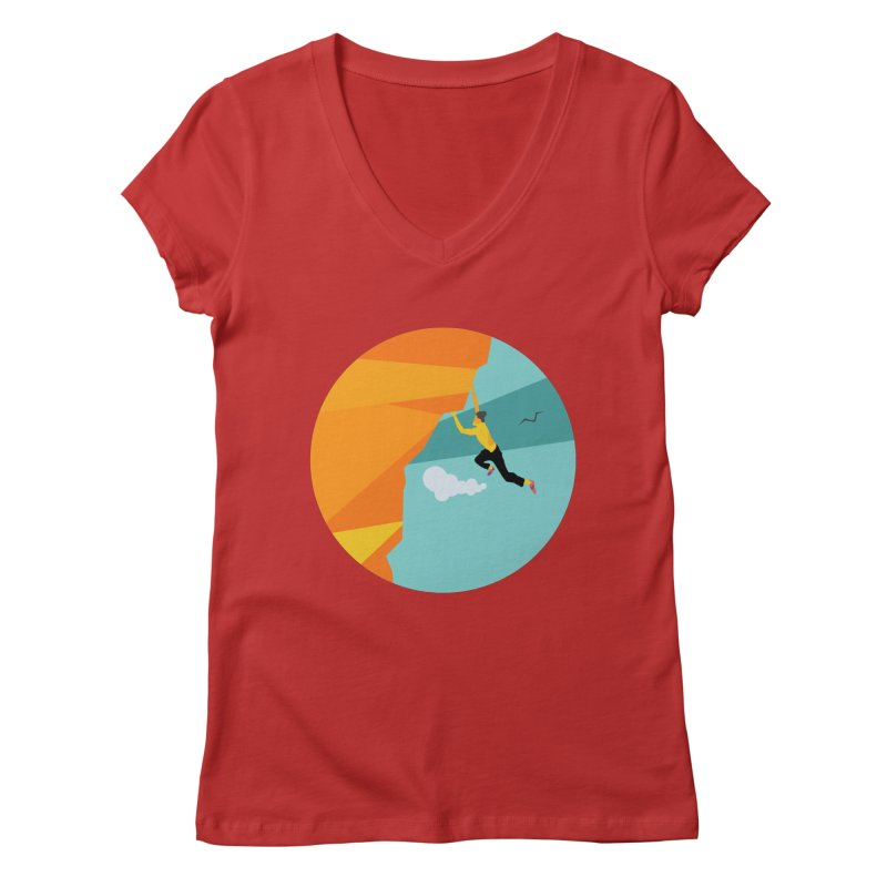 Escalador Women's V-Neck by · STUDI X-LEE ·