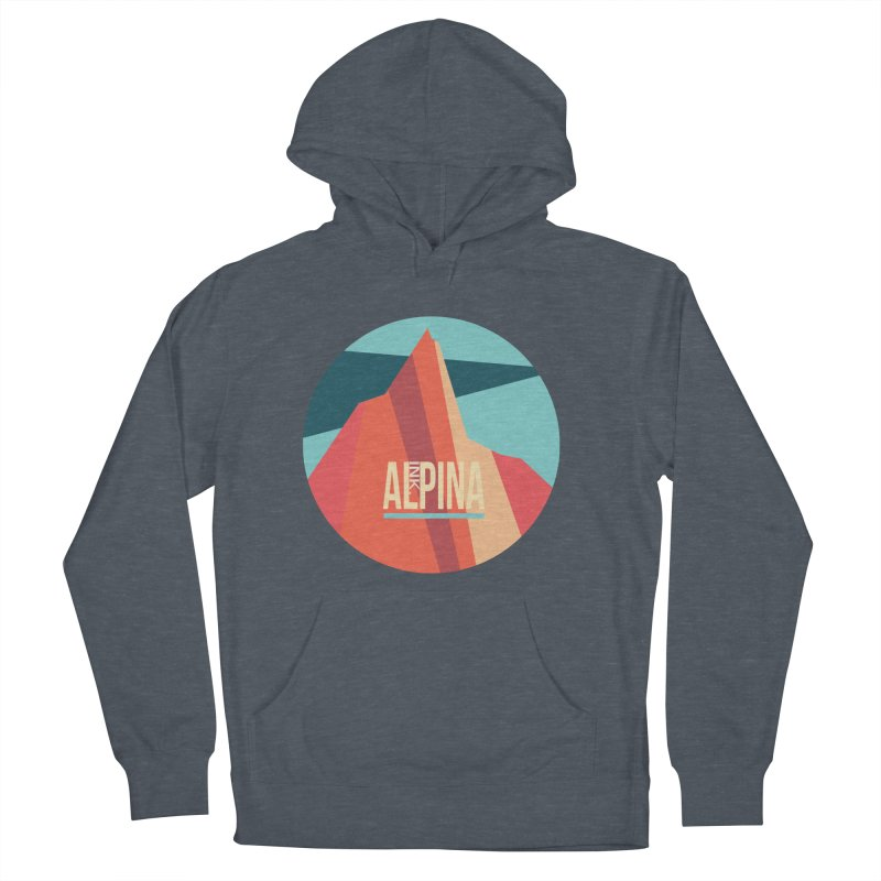 Logo InkAlpina Women's French Terry Pullover Hoody by INK. ALPINA