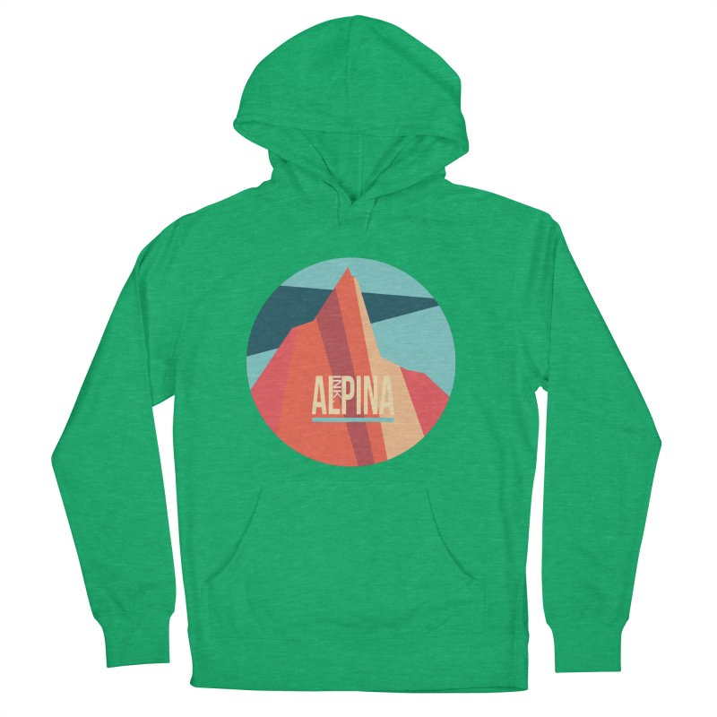 Logo InkAlpina Men's French Terry Pullover Hoody by INK. ALPINA