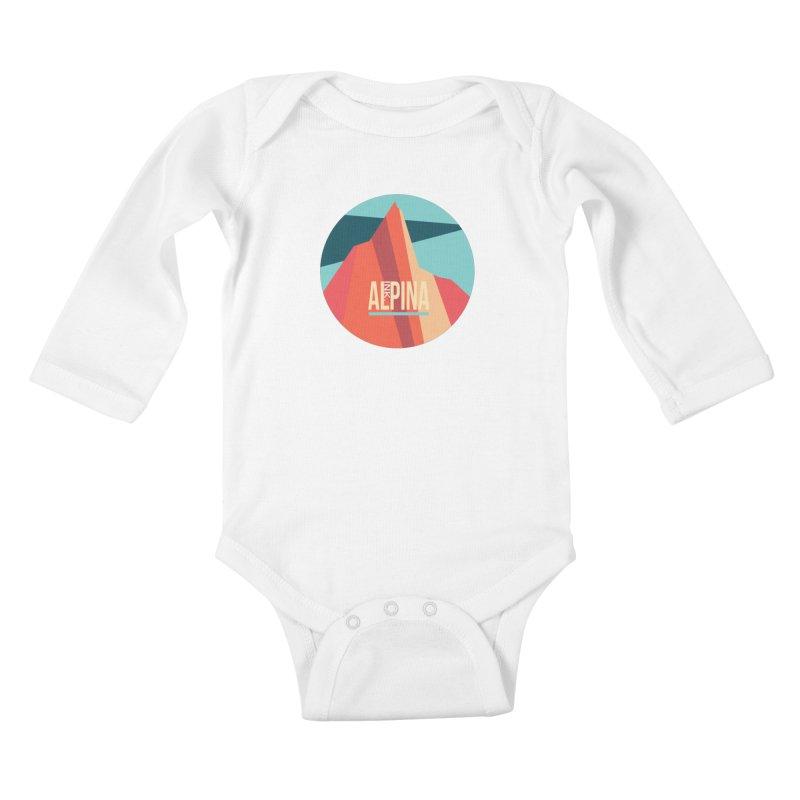 Logo InkAlpina Kids Baby Longsleeve Bodysuit by · STUDI X-LEE ·