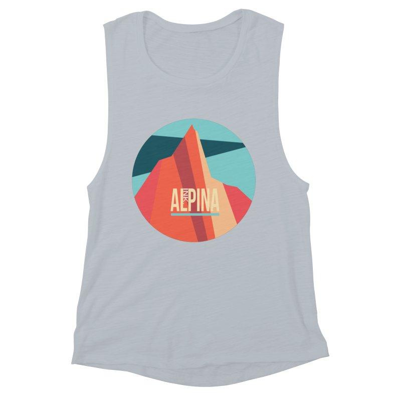 Logo InkAlpina Women's Muscle Tank by · STUDI X-LEE ·
