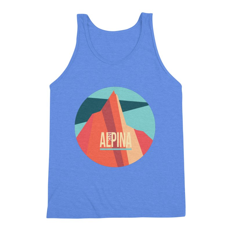 Logo InkAlpina Men's Triblend Tank by · STUDI X-LEE ·