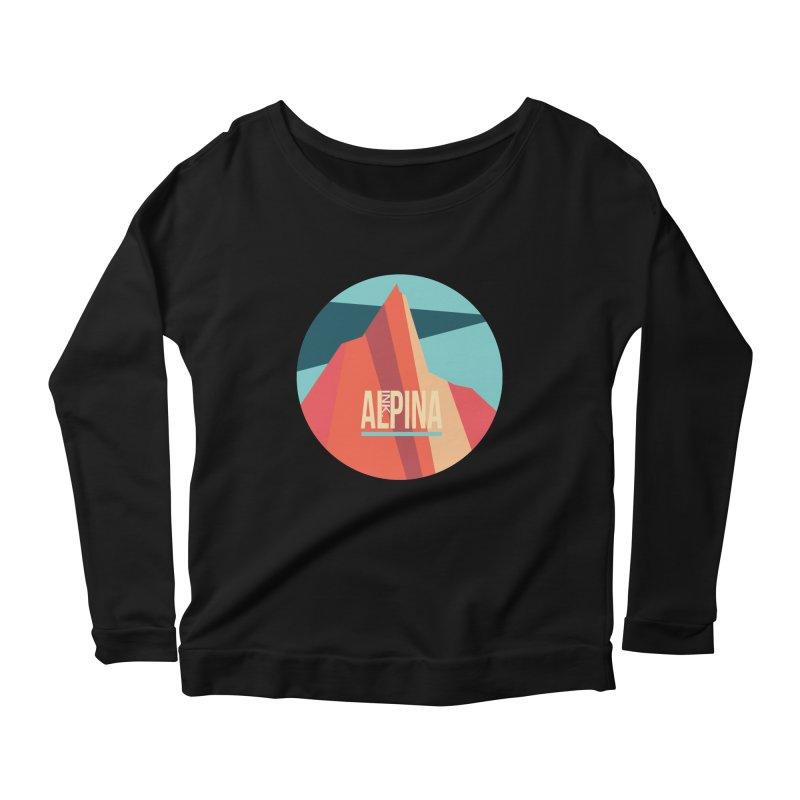 Logo InkAlpina Women's Scoop Neck Longsleeve T-Shirt by · STUDI X-LEE ·