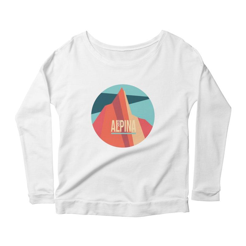 Logo InkAlpina Women's Scoop Neck Longsleeve T-Shirt by INK. ALPINA