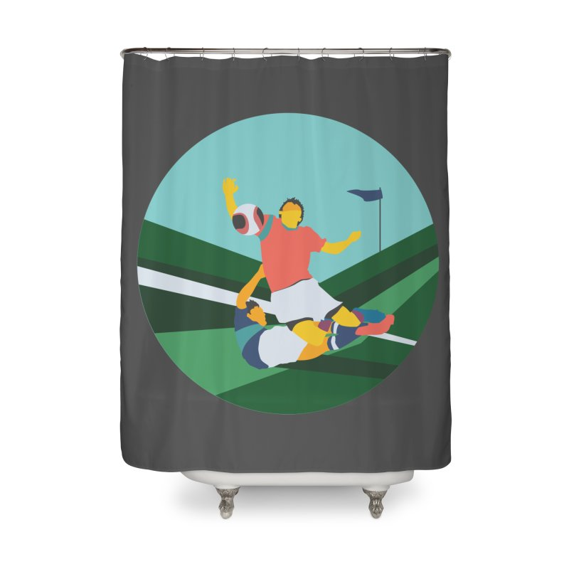 Soccer Home Shower Curtain by INK. ALPINA