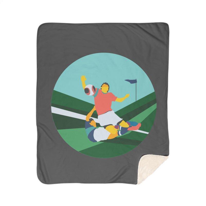Soccer Home Sherpa Blanket Blanket by · STUDI X-LEE ·