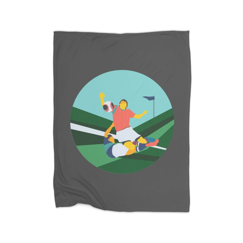 Soccer Home Blanket by INK. ALPINA