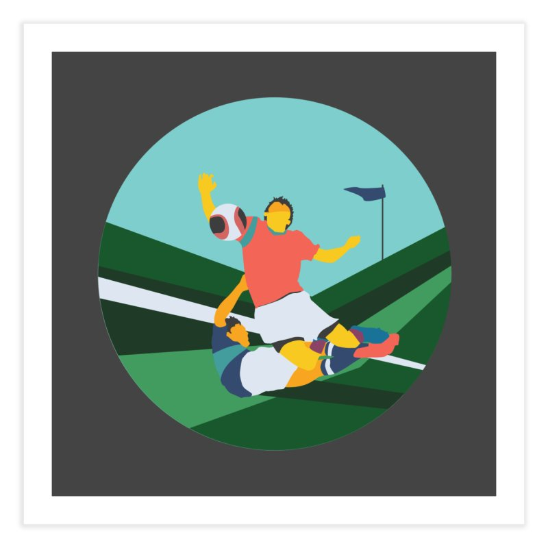 Soccer Home Fine Art Print by · STUDI X-LEE ·