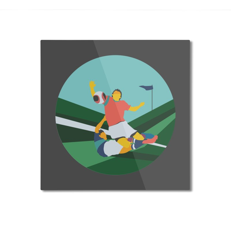 Soccer Home Mounted Aluminum Print by · STUDI X-LEE ·
