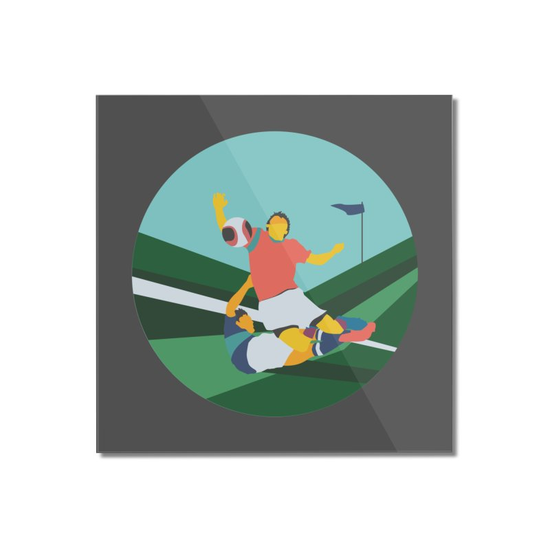Soccer Home Mounted Acrylic Print by · STUDI X-LEE ·
