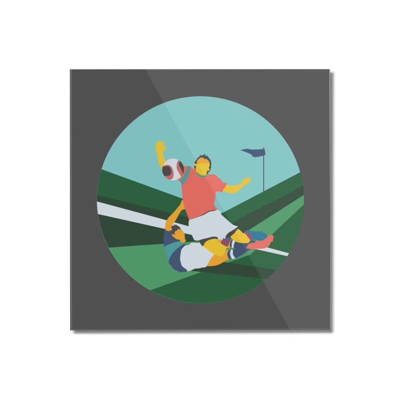 Soccer Home Mounted Acrylic Print by · STUDI X-LEE ·