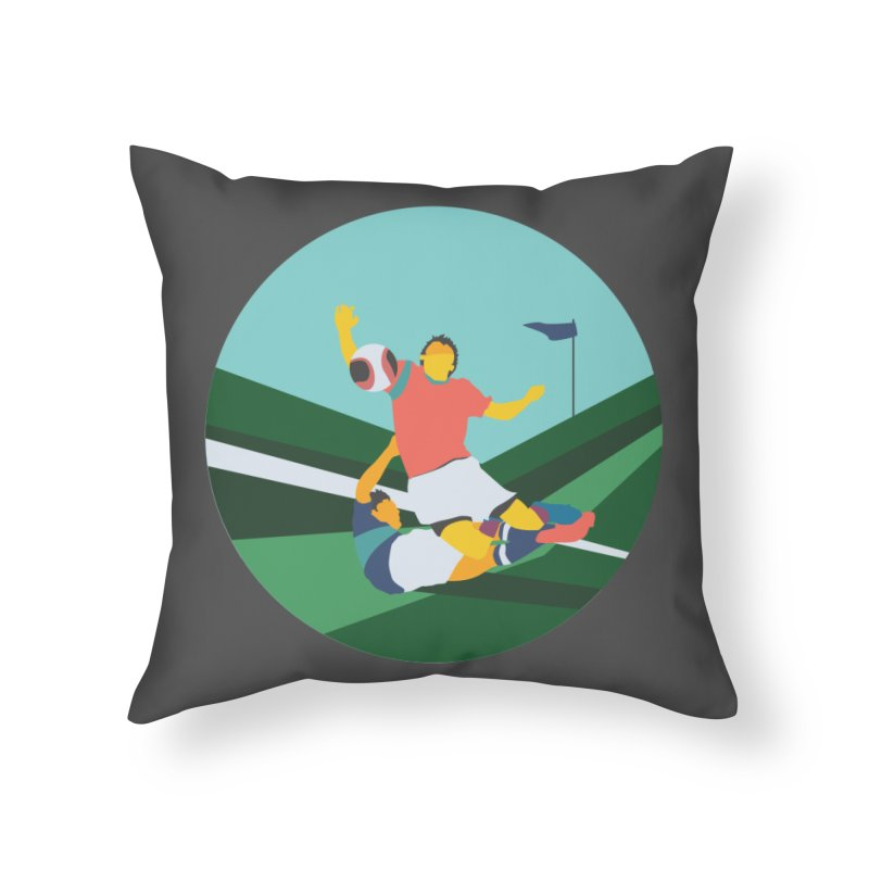 Soccer Home Throw Pillow by INK. ALPINA