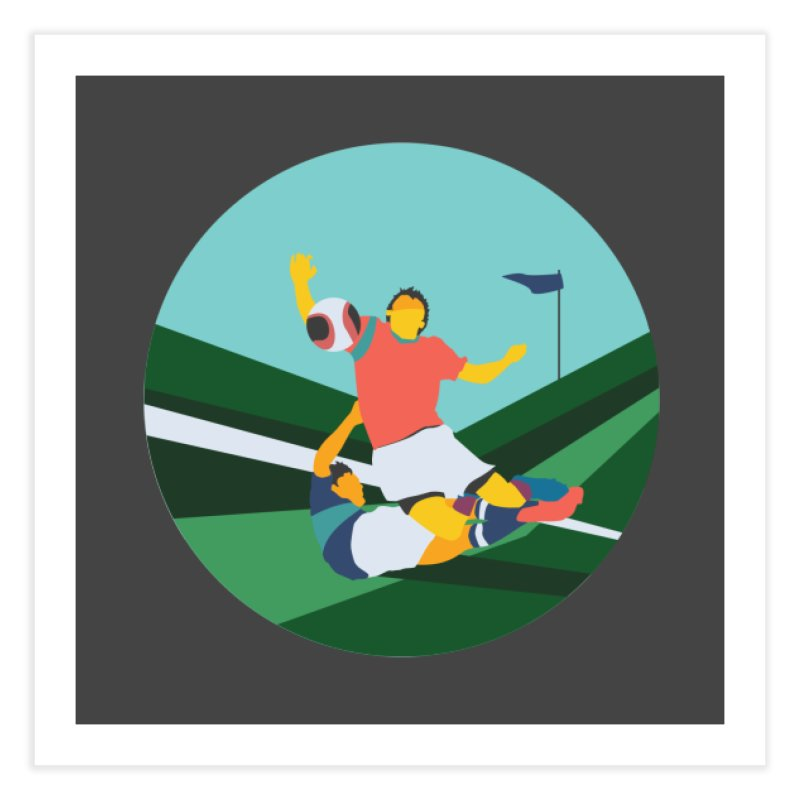 Soccer Home Fine Art Print by INK. ALPINA