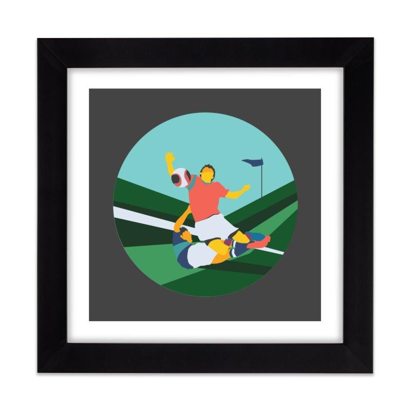 Soccer Home Framed Fine Art Print by · STUDI X-LEE ·