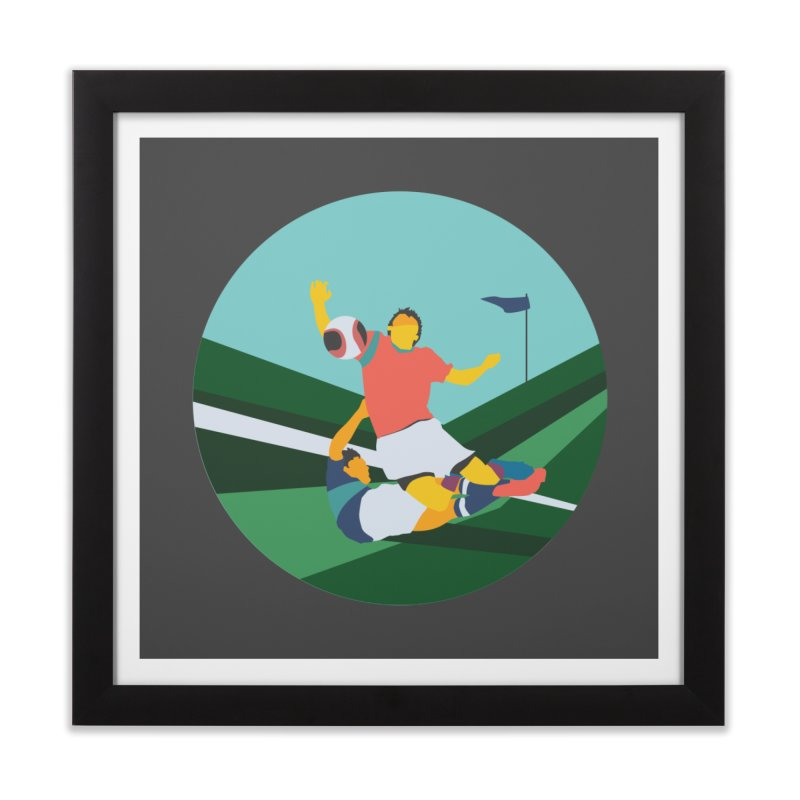 Soccer Home Framed Fine Art Print by · STUDI X-LEE ·