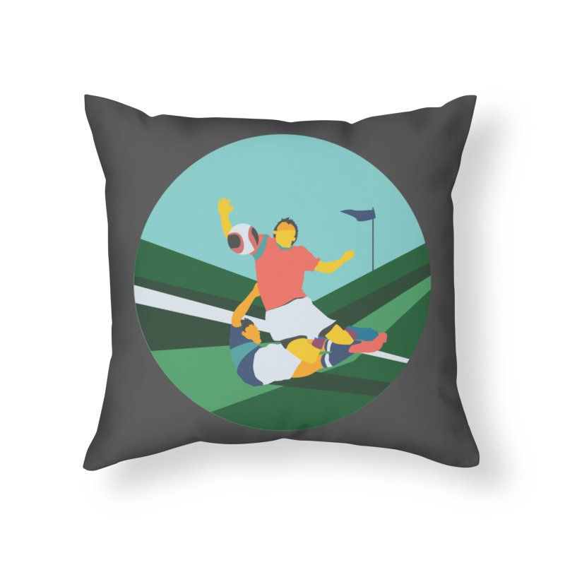 Soccer Home Throw Pillow by · STUDI X-LEE ·