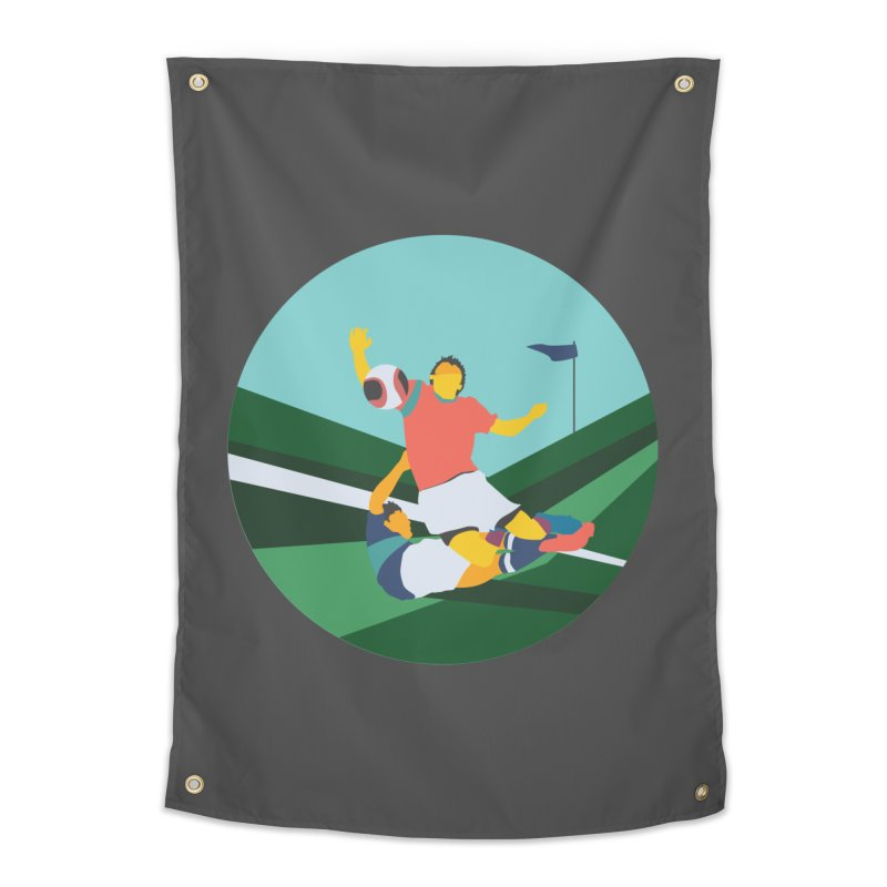 Soccer Home Tapestry by INK. ALPINA