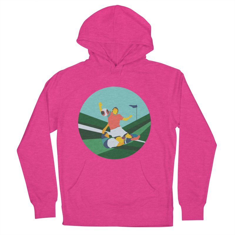 Soccer Women's French Terry Pullover Hoody by INK. ALPINA