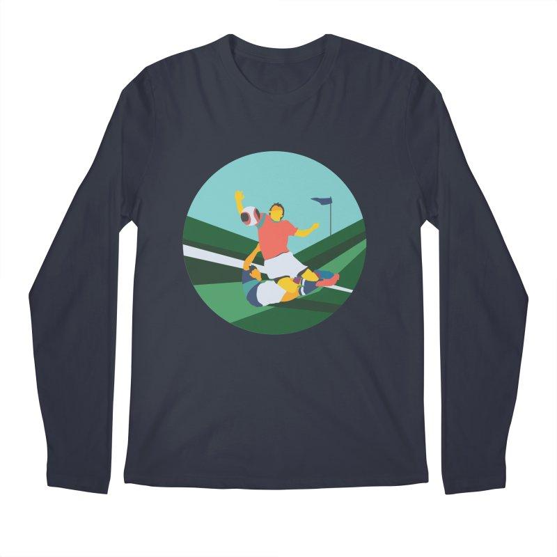 Soccer Men's Regular Longsleeve T-Shirt by INK. ALPINA