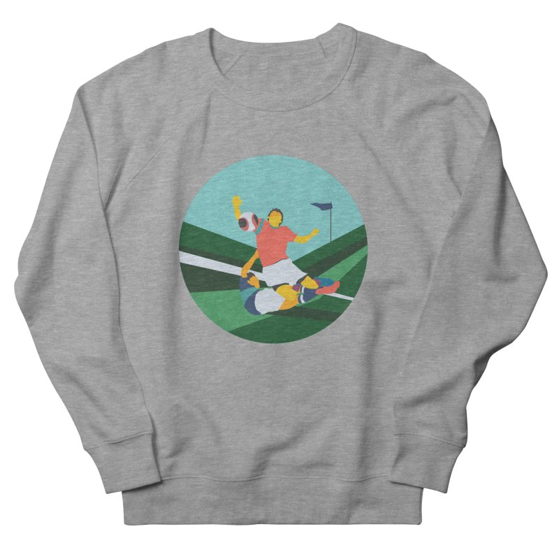 Soccer Men's French Terry Sweatshirt by INK. ALPINA