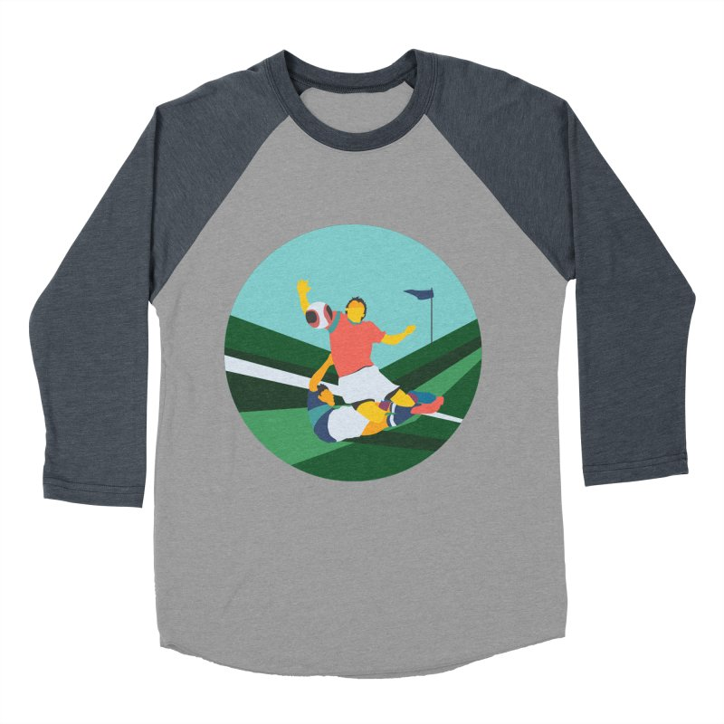 Soccer Women's Baseball Triblend Longsleeve T-Shirt by INK. ALPINA