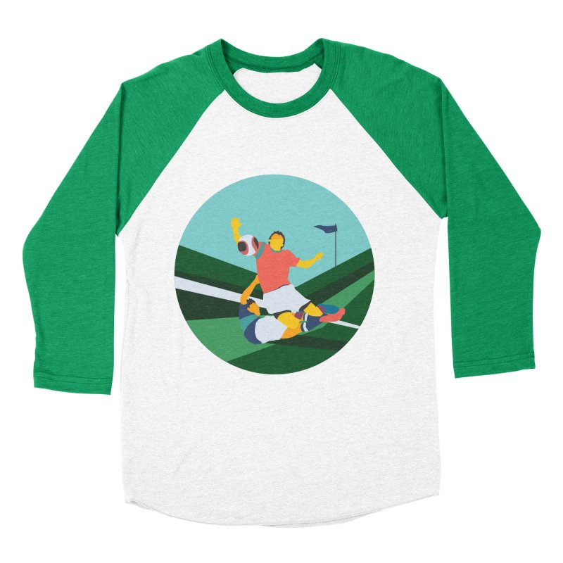 Soccer Men's Baseball Triblend Longsleeve T-Shirt by INK. ALPINA