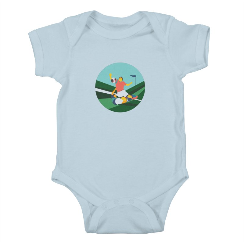 Soccer Kids Baby Bodysuit by INK. ALPINA