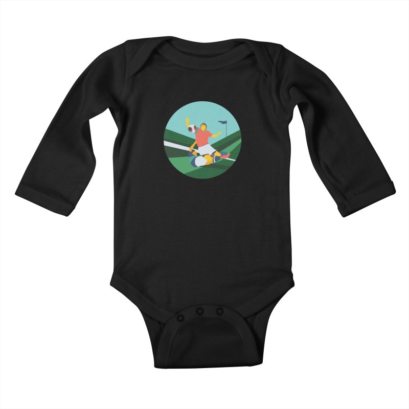 Soccer Kids Baby Longsleeve Bodysuit by INK. ALPINA