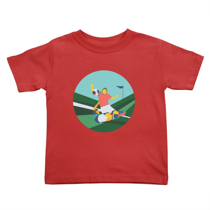 Soccer Kids Toddler T-Shirt by INK. ALPINA