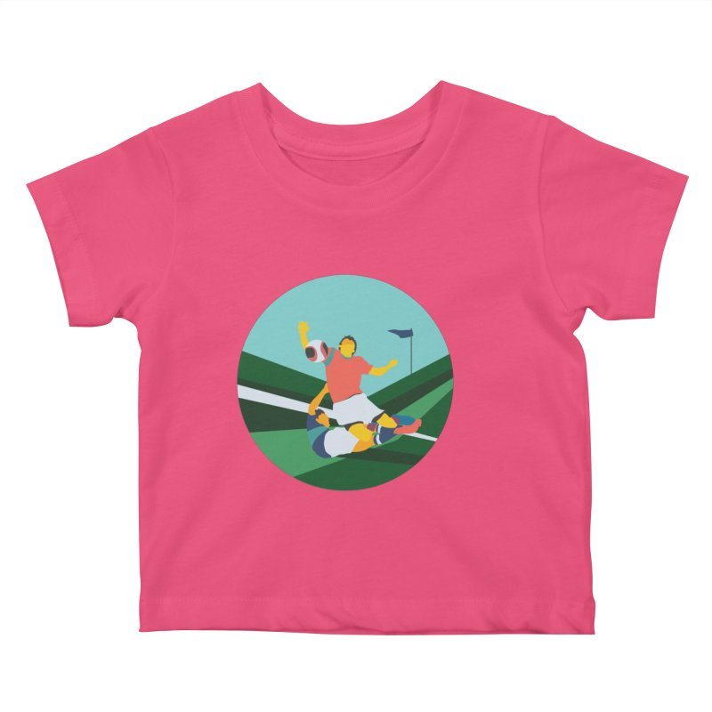 Soccer Kids Baby T-Shirt by · STUDI X-LEE ·