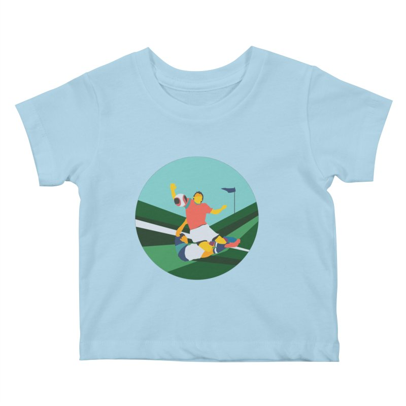 Soccer Kids Baby T-Shirt by · STUDI X-LEE ·
