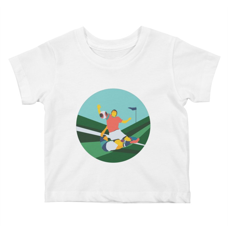 Soccer Kids Baby T-Shirt by INK. ALPINA
