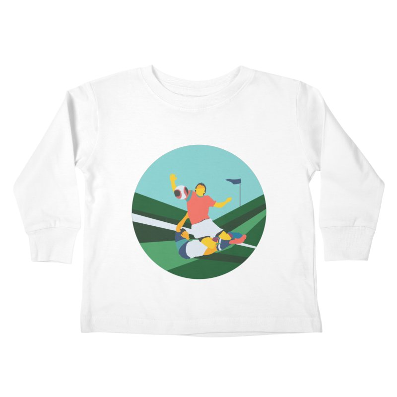 Soccer Kids Toddler Longsleeve T-Shirt by INK. ALPINA