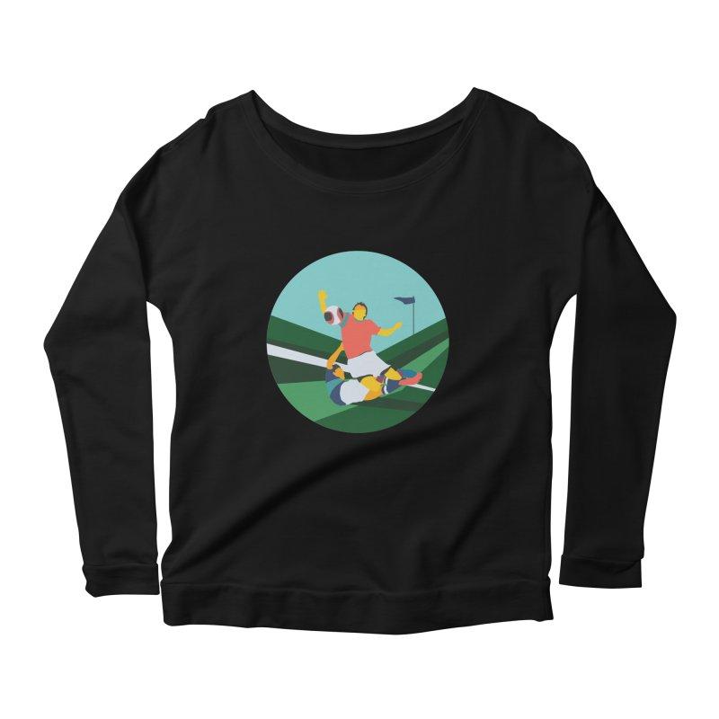 Soccer Women's Scoop Neck Longsleeve T-Shirt by · STUDI X-LEE ·