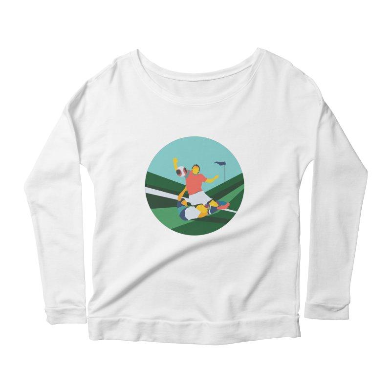 Soccer Women's Scoop Neck Longsleeve T-Shirt by INK. ALPINA
